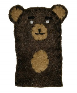 Marionnette de doigt - Papa ours Brun