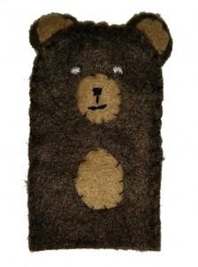 Marionnette de doigt - Petit ours Brun